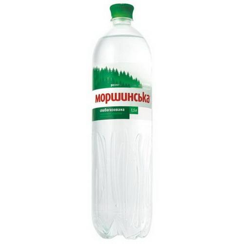 Моршинська вода - ВОДА МОРШИНСЬКА 1,5л слабогазована