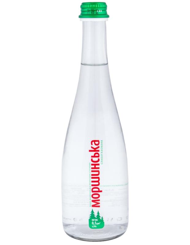 Моршинська вода - ВОДА МОРШИНСЬКА 0,5л газована (в склі)
