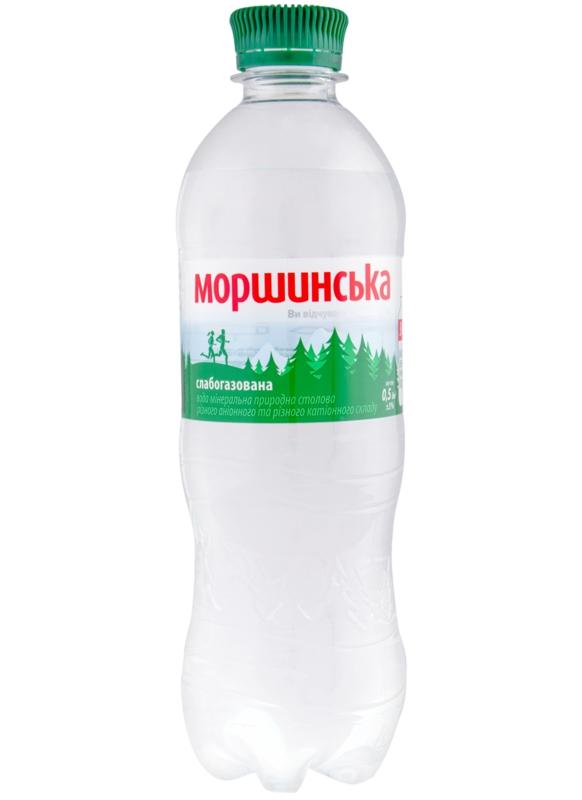 Моршинська вода - ВОДА МОРШИНСЬКА 0,5л слабогазована