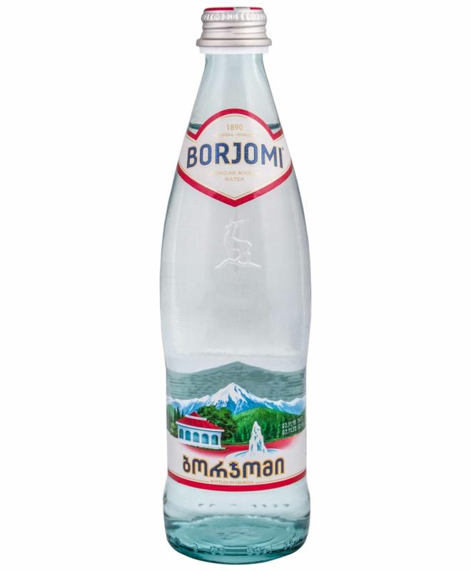 Вода Borjomi - ВОДА БОРЖОМІ 0,5л (в склі)