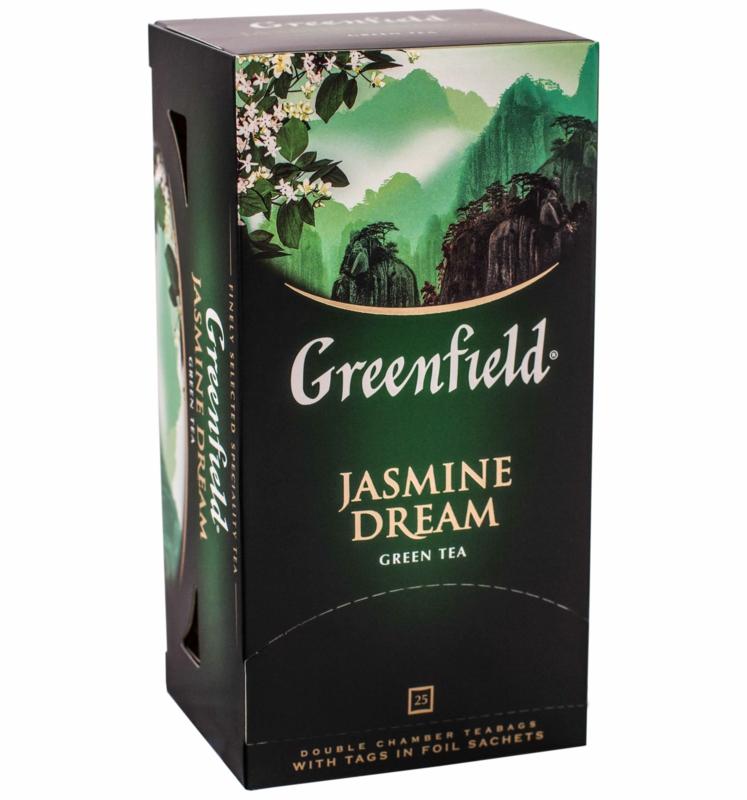Чай Greenfield - ЧАЙ ЗЕЛЕНИЙ GREENFIELD ЖАСМИН 25 пак