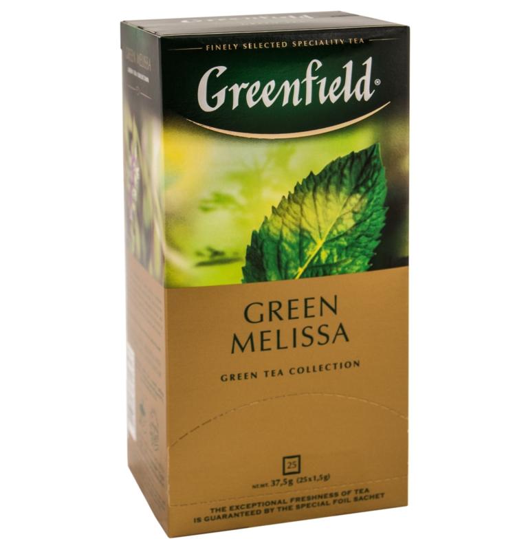 Чай Greenfield - ЧАЙ GREENFIELD GREEN MELISSA 25 пак