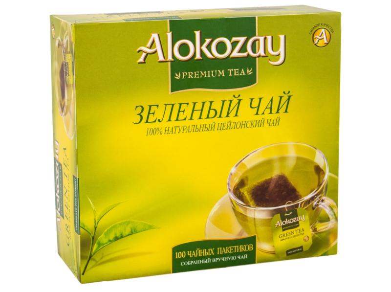Чай Alokozay -  ЧАЙ ЗЕЛЕНИЙ ALOKOZAY 100 пак